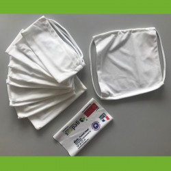 MASQUE DE PROTECTION EN TISSU DUO POCKET lot de 10